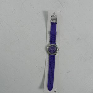 Darice Ladies Purple Rhinestone Watch NET
